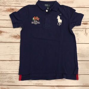 Boys Ralph Lauren Polo T Shirt Italy Size 7